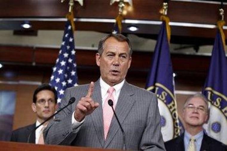Tom Price is looking over John Boehner's shoulder.