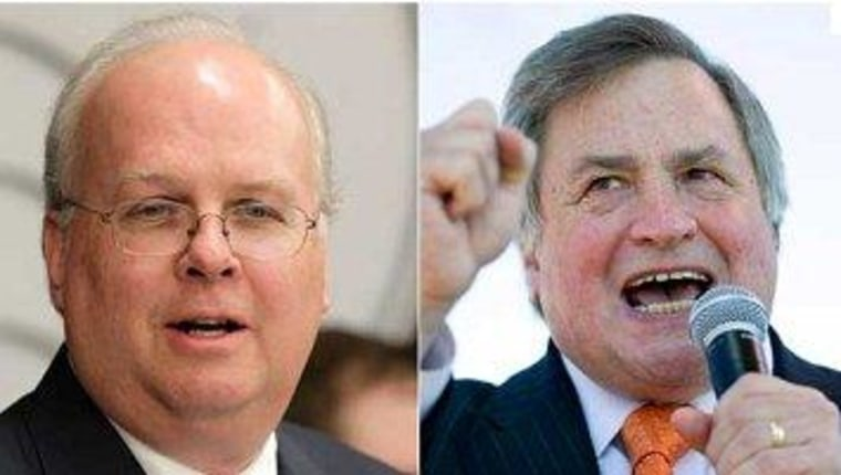 Rove, Morris find themselves on Fox's bench