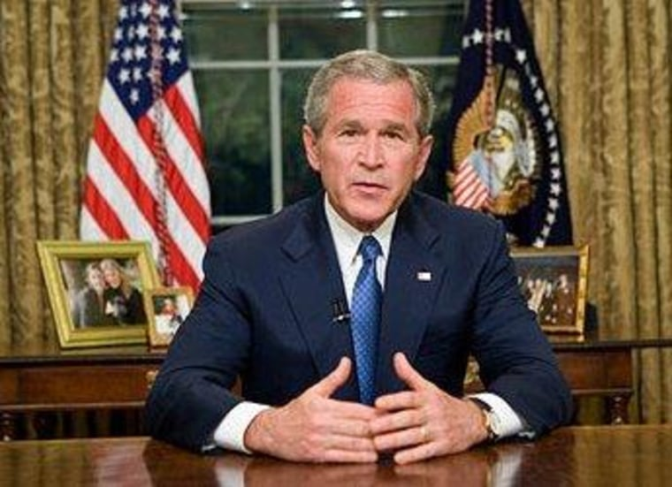 George W. Bush delivers Oval Office address on immigration in May 2006.