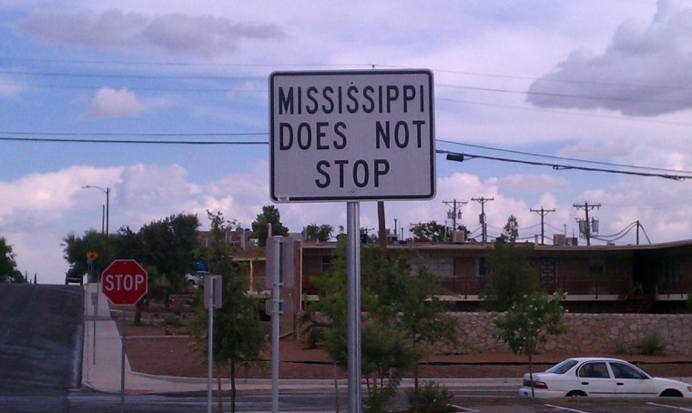 Pic: Mississippi does not stop