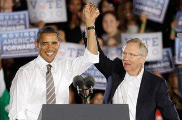 Obama sides with Reid on filibuster reform