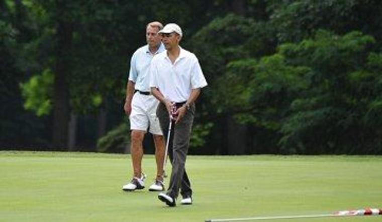 President Obama and Speaker Boehner golfing in June 2011.