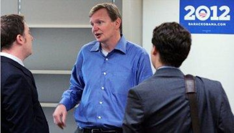 Jim Messina at Obama campaign headquarters in Chicago