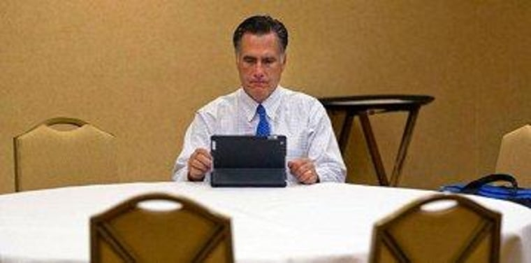 Romney suddenly finds himself all alone.