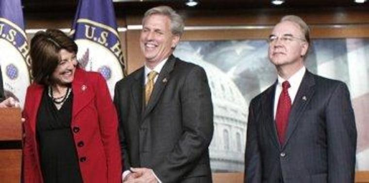 Rep. Cathy McMorris Rodgers, R-Wash., Rep. Kevin McCarthy, R-Calif., Rep. Tom Price, R-Ga.