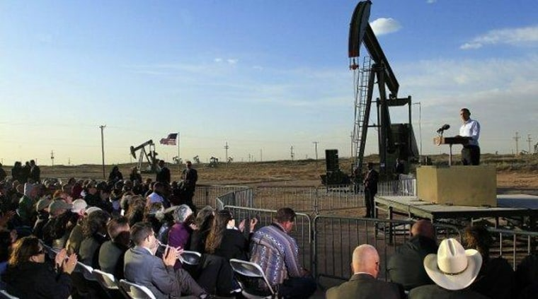 In March, President Obama spoke at an oil and gas field on federal lands in Maljamar, N.M.