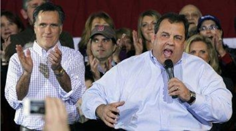 Romney preferred Christie to Ryan