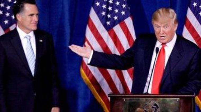 Trump plays the clownish villain