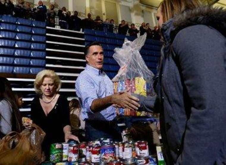 Romney at an Ohio photo-op this afternoon, where he ignored FEMA questions.