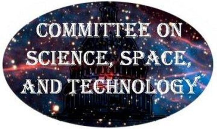 The official logo of the House Science Committee