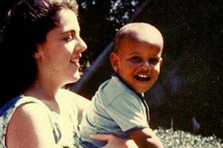 A young Barack Obama with his mother, Stanley Ann Dunham