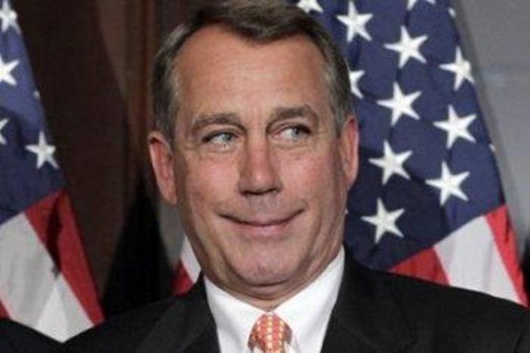 House Speaker John Boehner got the outcome he wanted yesterday.