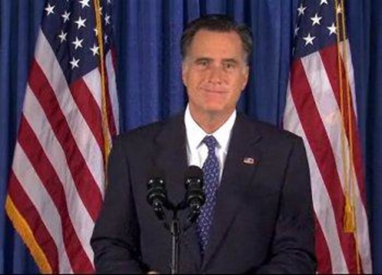 Romney tried his hand this morning at smearing with a smirk.