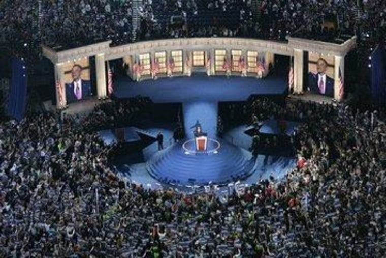 Barack Obama accepts the Democratic nomination four years ago.