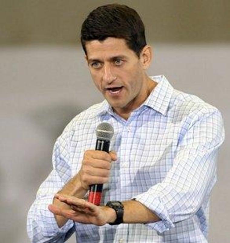 Paul Ryan in North Carolina yesterday.