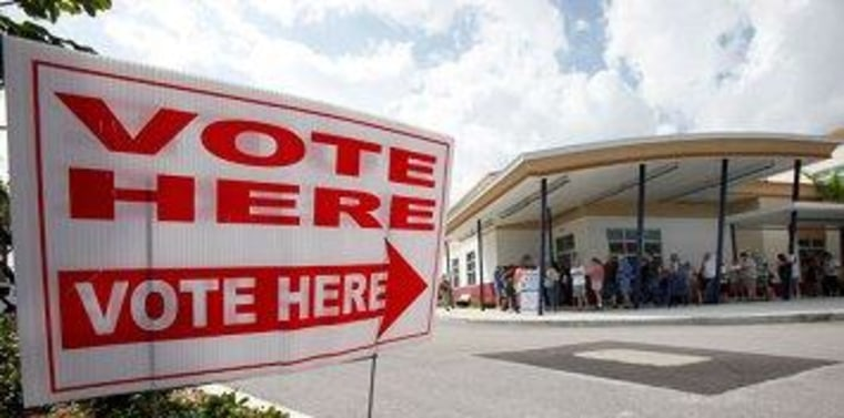 Floridians line up to vote.