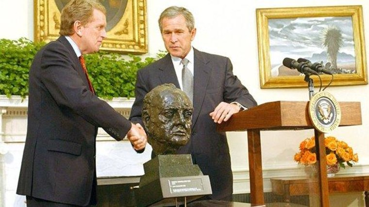 The preoccupation with the Churchill bust