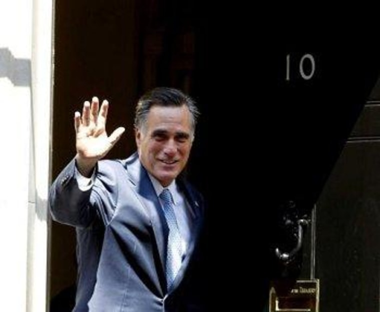 Romney waves goodbye to his international credibility.