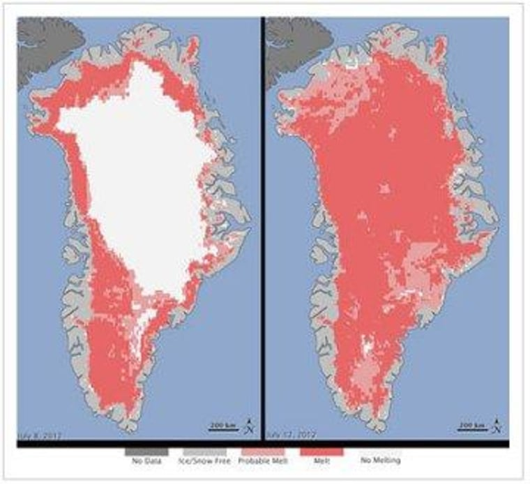 Greenland image highlights climate crisis