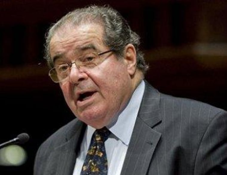 Scalia vs. the GOP line on disclosure