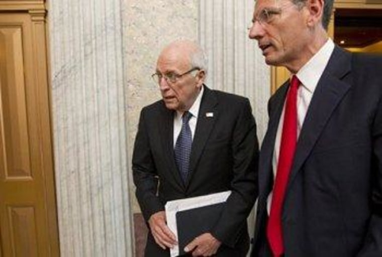 Dick Cheney on Capitol Hill yesterday.