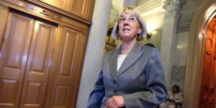 Sen. Patty Murray (D-Wash.) isn't inclined to fold with a good hand.
