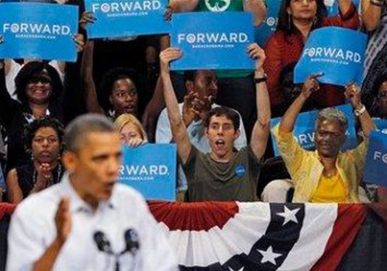 Obama campaigning in Virginia