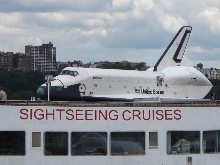 The shuttle Enterprise comes home
