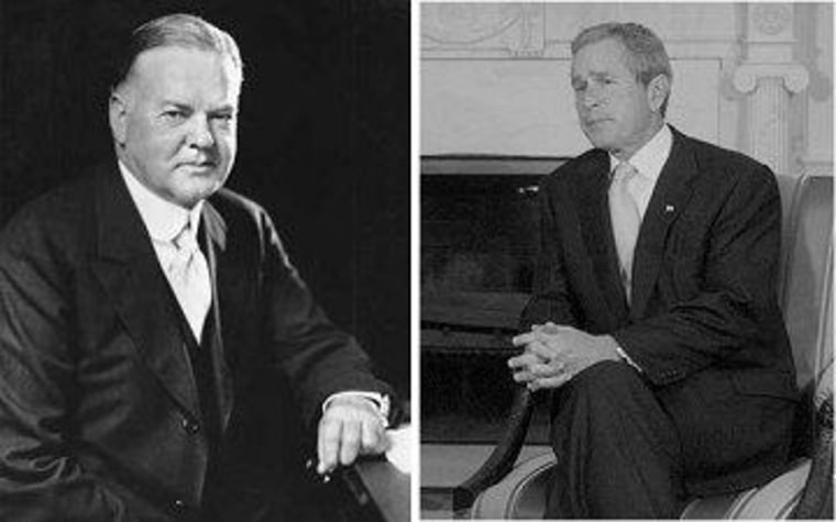 Hoover and Bush were successful in business, but both crashed the economy.