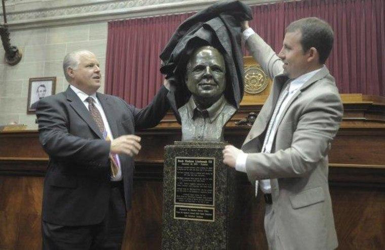 Protecting Limbaugh's bust
