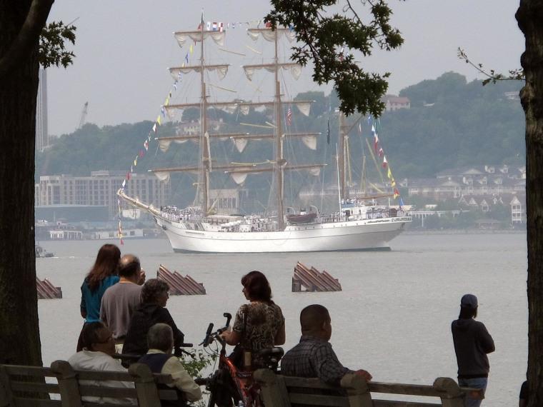 Tall ships on parade