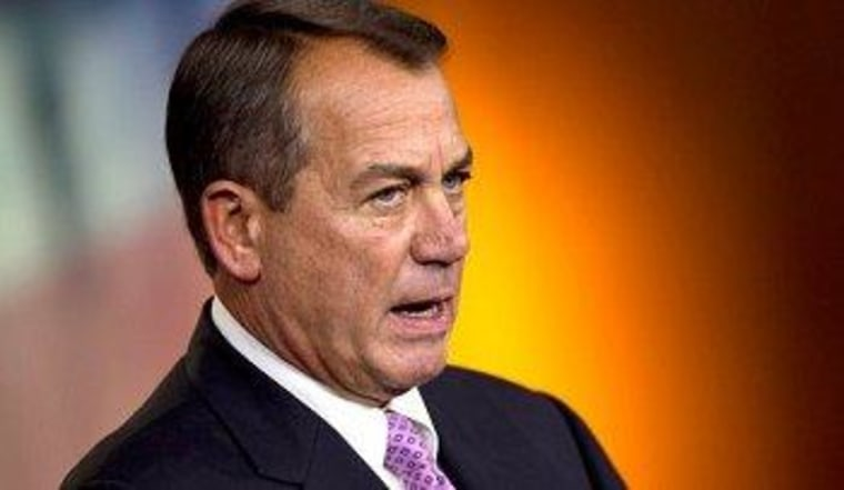 Boehner on health care: everything must go