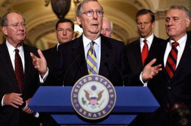 The Senate Republican leadership, all of which backed the Paul Ryan budget plan.