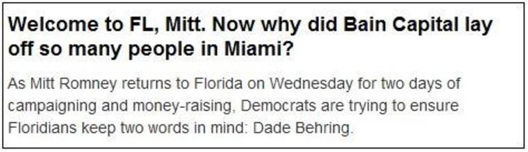 Mitt's Miami vice