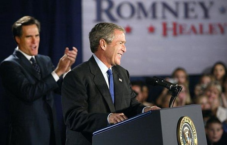 George W. Bush: 'I'm for Mitt Romney'