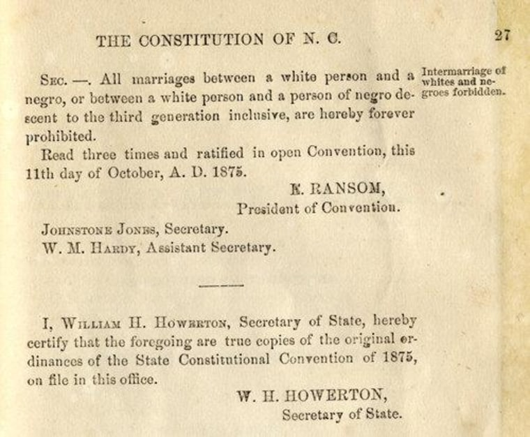 North Carolina passes marriage amendment to constitution