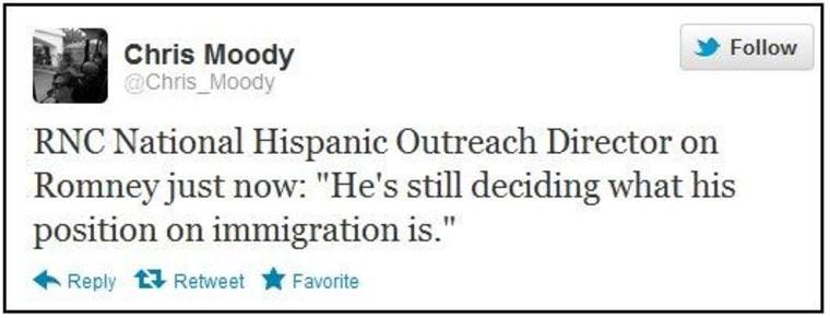 RNC: Romney 'still deciding' his position on immigration