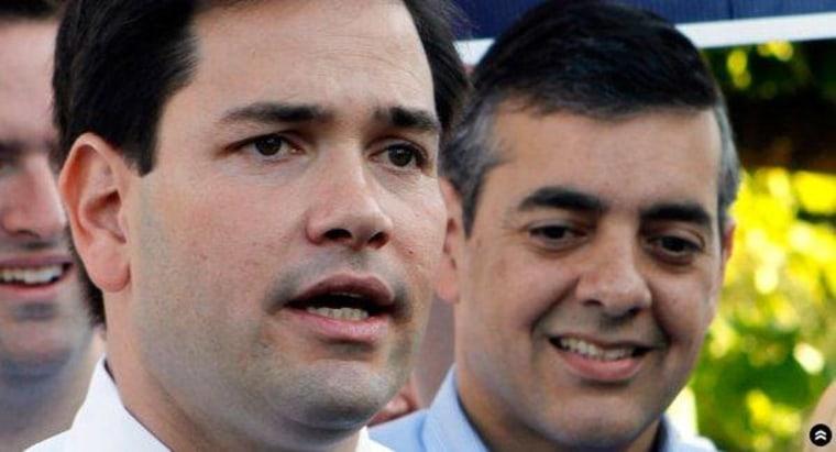 Marco Rubio with his friend David Rivera.