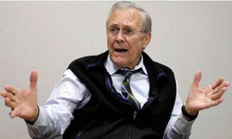 Rumsfeld still considers himself credible