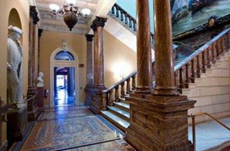 Capitol Hill's lovely hallways tend to be empty.