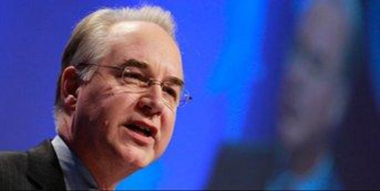 Wait until Tom Price is writing health care policy in 2013.