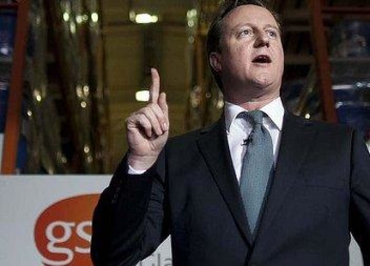 David Cameron's economy isn't pointing in the right direction.