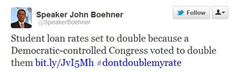 The problem with Boehner's logic