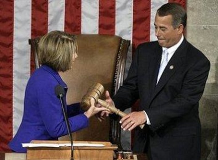 Will he have to give the gavel back in January?