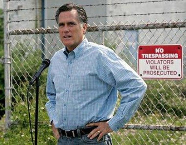 Romney's misfire on plant closings