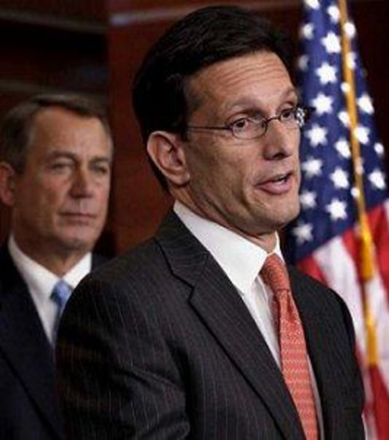 House Majority Leader Eric Cantor is taking the lead on yet another tax cut bill.