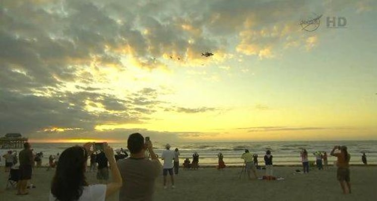 Floridians say goodbye to Space Shuttle Discovery.