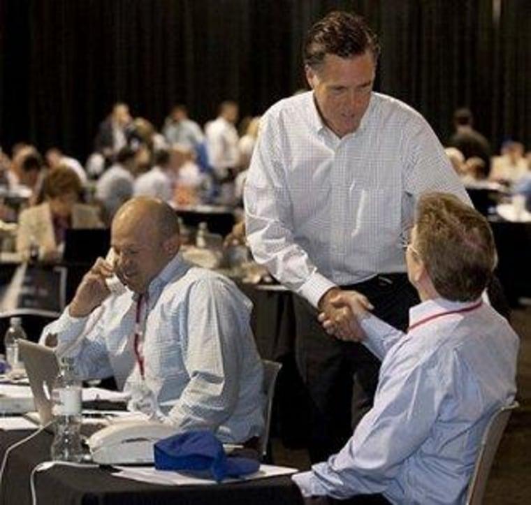 Mitt Romney at a phone bank fundraiser last year in Las Vegas.