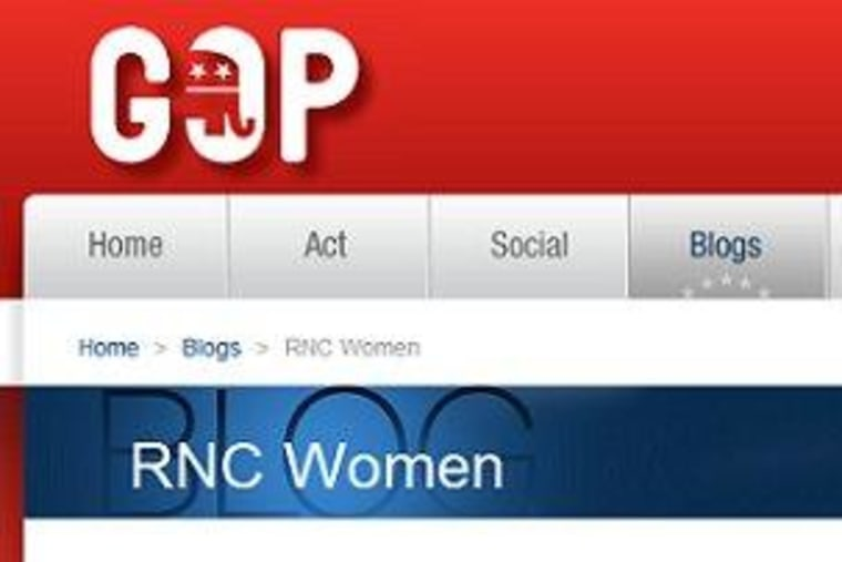 The RNC has a women's blog (sort of)