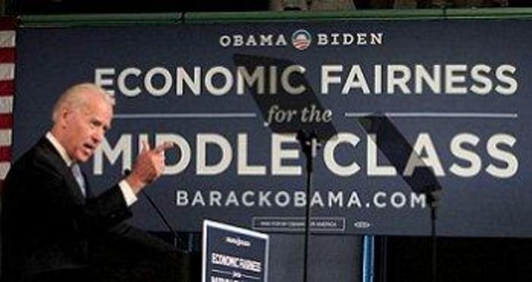 Vice President Biden touts the Buffett Rule in Exeter, N.H.